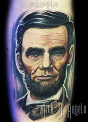 Abe Lincoln Tattoo by NickDAngeloTattoos