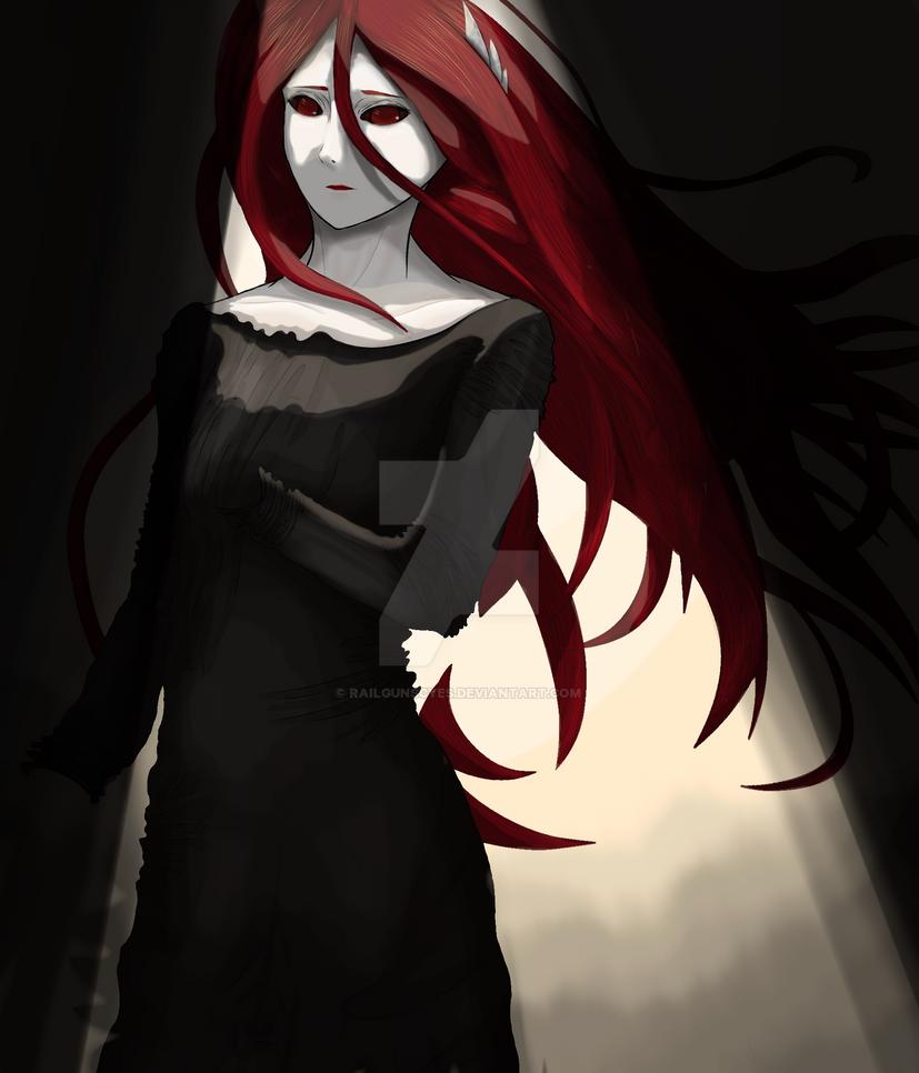 Whisper Queen Kala Anime Woman Red Hair By Railgunscyes On
