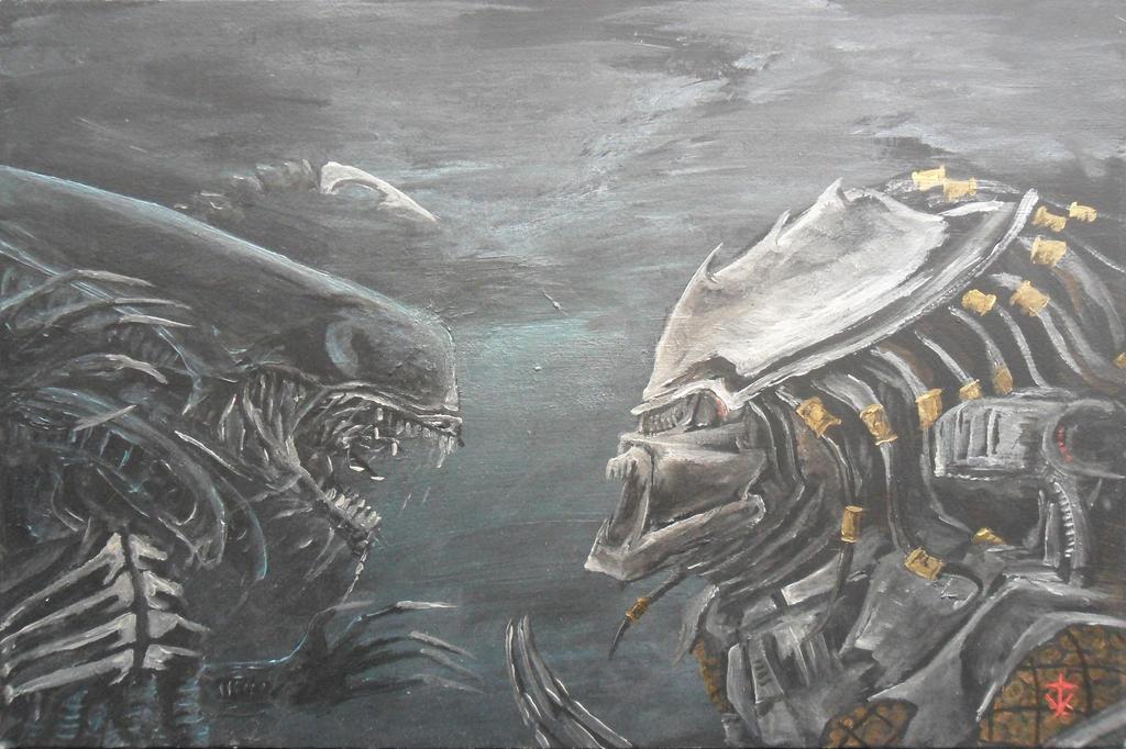 Alien vs Predator by RedRoofArt