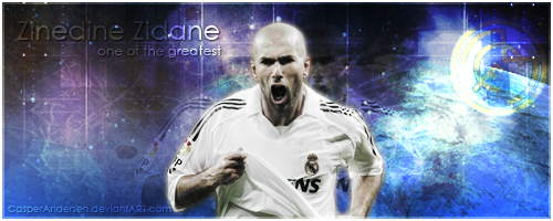 Zinedine Zidane by CasperAndersen