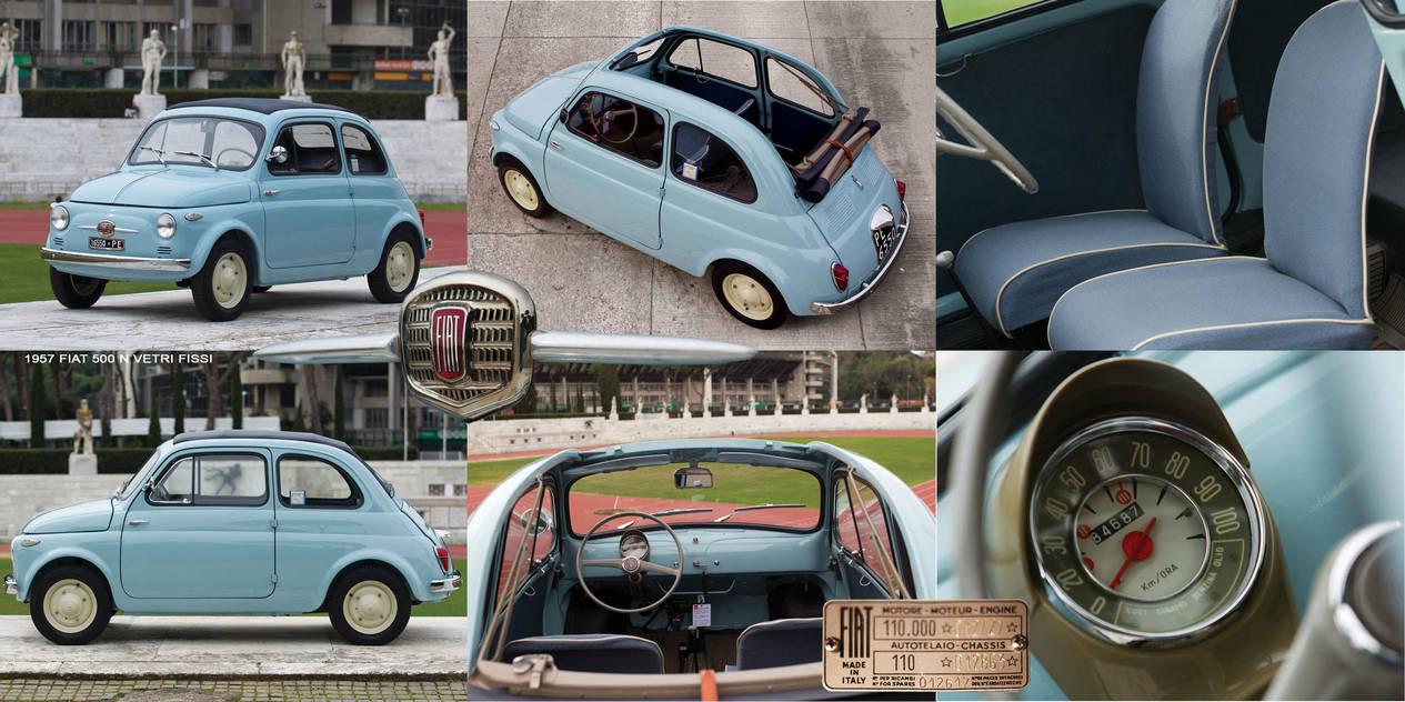 1957 Fiat 500 N Vetri Fissi By Samiximas On Deviantart