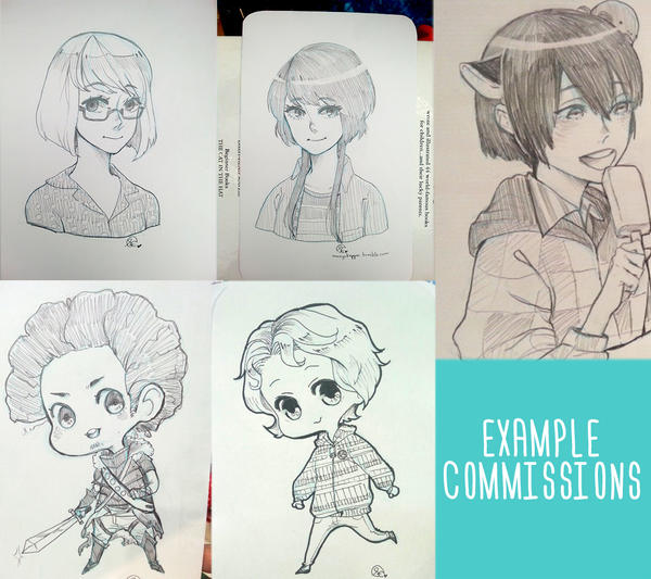 (SKETCH)(ORIGINAL) Sketch Commission Examples by mangOKappu