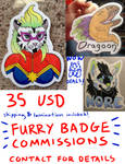 OPEN Furry Badge Commissions