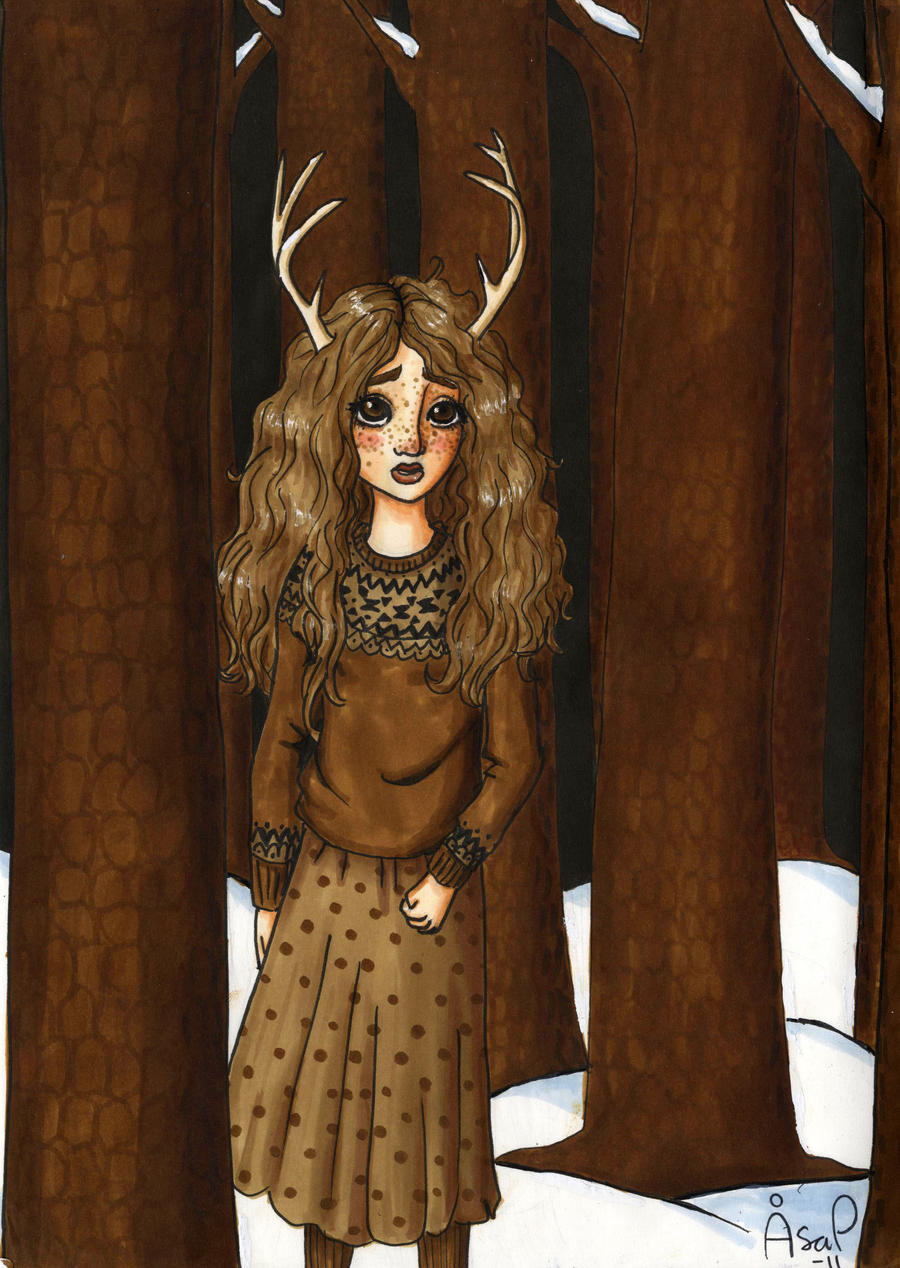 Antler girl by palmcastle