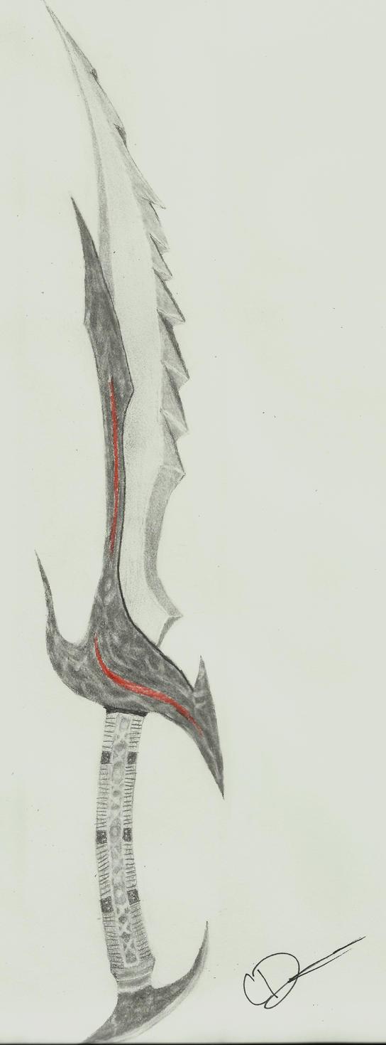 Skyrim daedric sword drawing