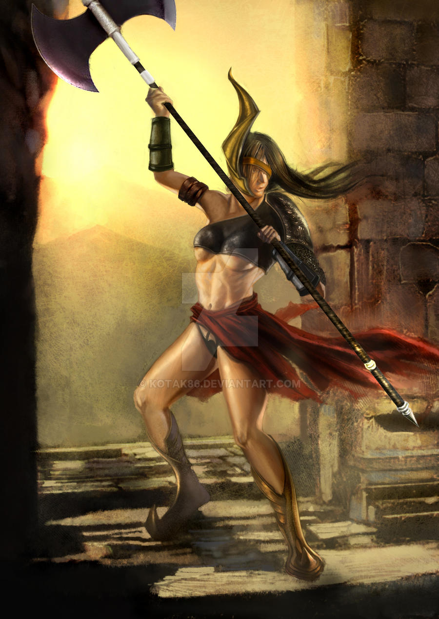 Tall amazonian warrior women nude erotic pic