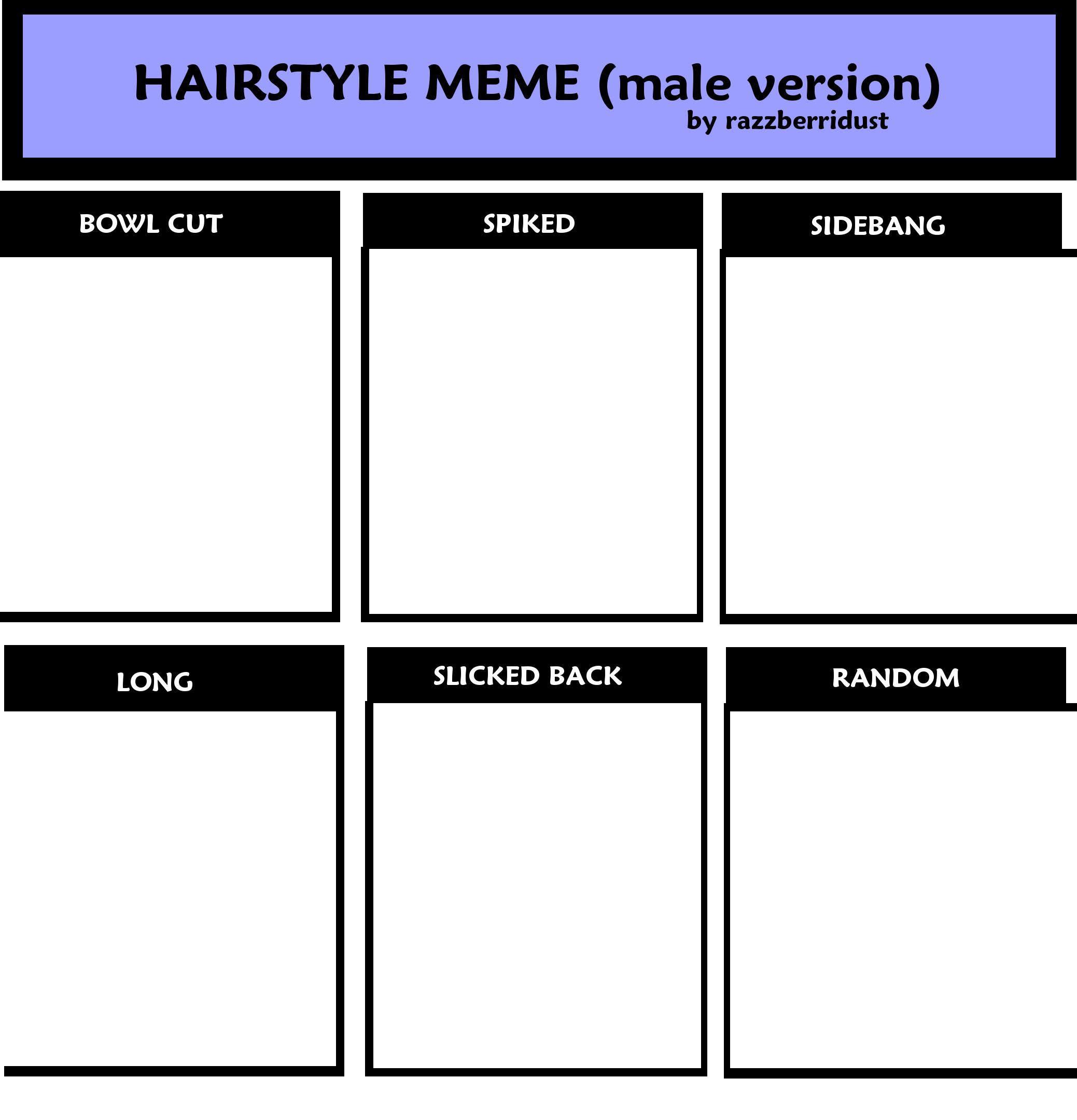 Hairstyle Meme Male Version By Razzberridust On Deviantart