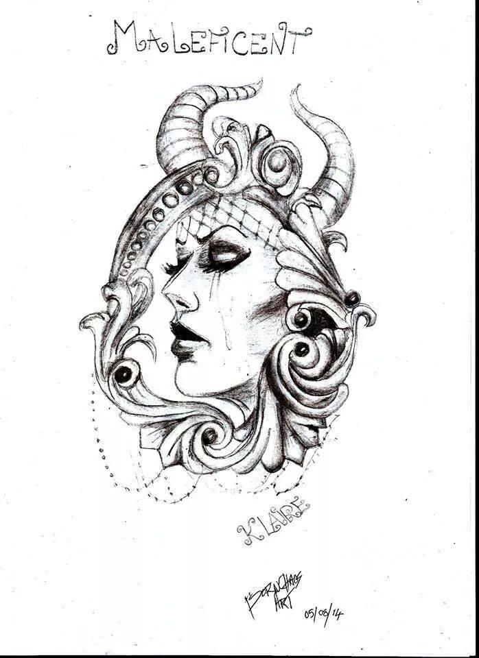 maleficent tattoo by klairemartin on deviantart. Black Bedroom Furniture Sets. Home Design Ideas