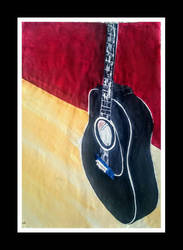 guitar painting by Klairemartin