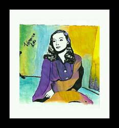 Veronica Lake pop art painting  by Klairemartin