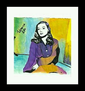 Veronica Lake pop art painting