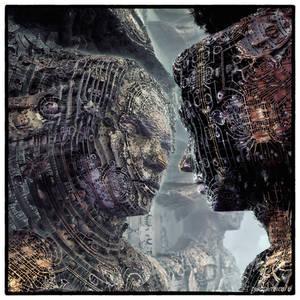 Cyber fractal Kiss