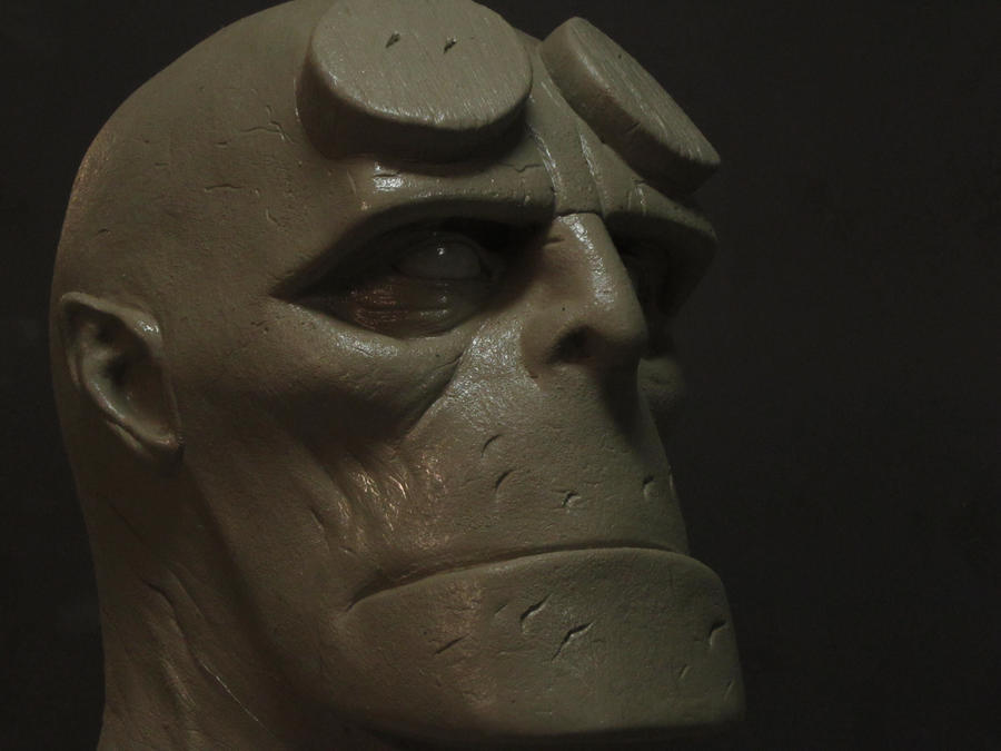 Hellboy sculpture by Justin-Mabry