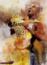 Kobe Bryant (Watercolor) by Johniceman-77