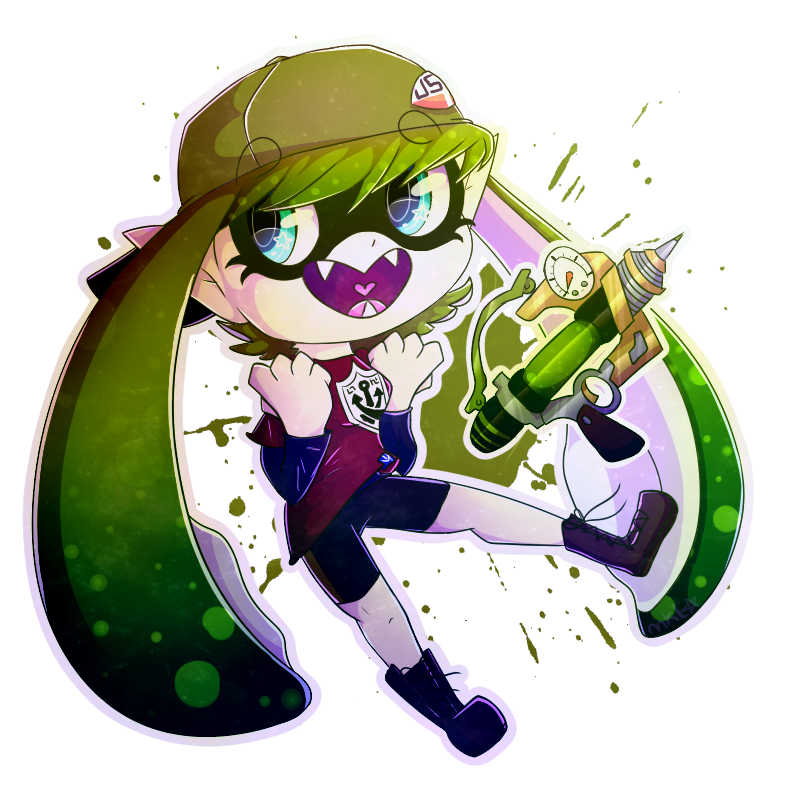~COMMISSION~ Lycaon-the-wolf- SPLATOON OC by BlackandWhite202