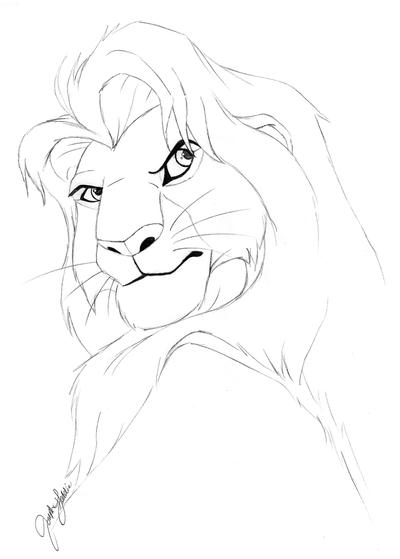 Adult Simba Coloring Page by JosephGeddie on DeviantArt