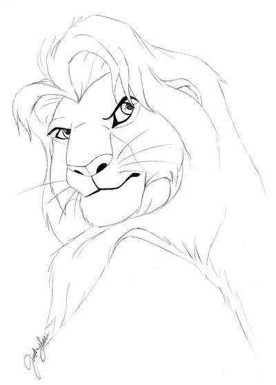 Adult Simba Coloring Page By JosephGeddie