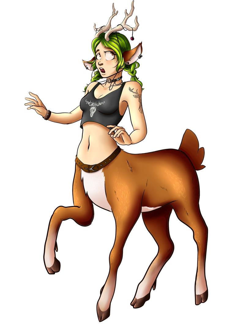 Oh Deer - Punk Rock Dryad (No Background) by Chaplynn