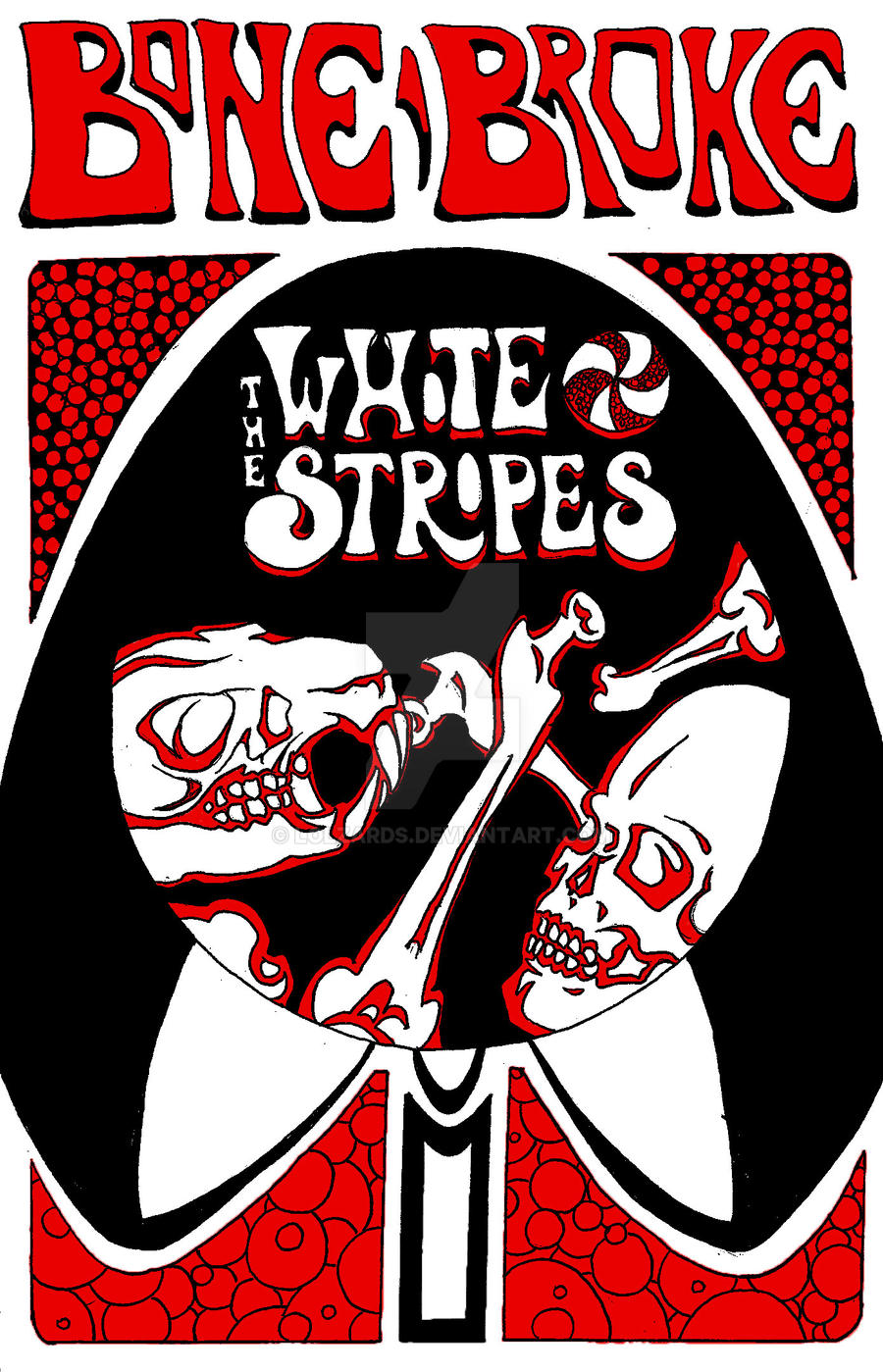 White stripes band logo