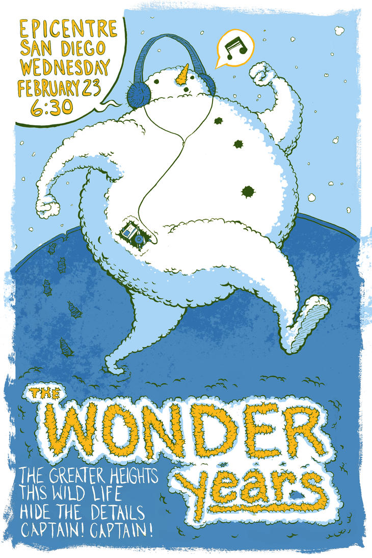 Wonder Years Gig Poster by Lolzards