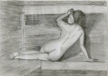 In sauna... by nudedrawingbyme
