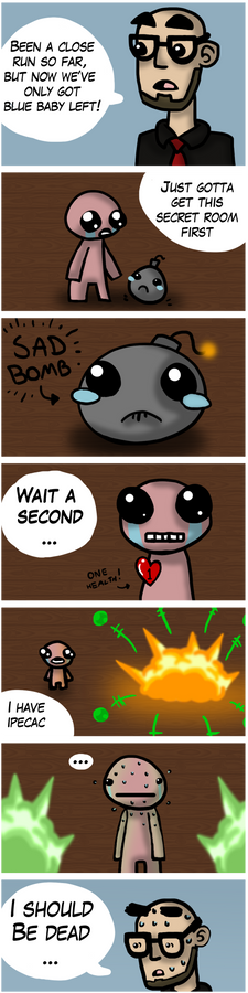 An Ipecac close call - Northernlion/Isaac FanComic