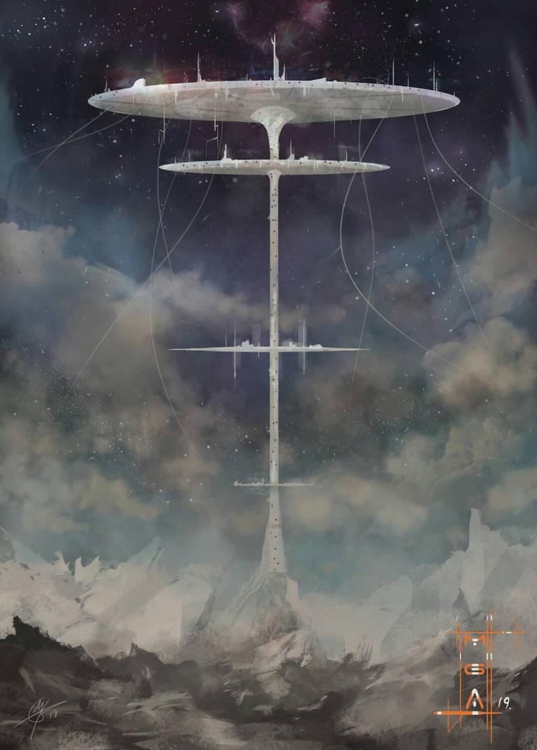 cloud spire by behindspace99