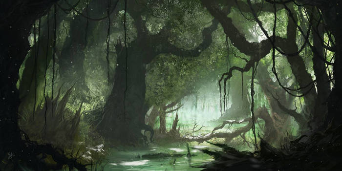 Swamp forest environment