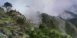 Machu Piccu, Peru,1 hour, speedpaint