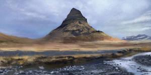 Kirkjufel, Iceland, speedpaint 50 minutes