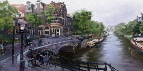 Amsterdam, 1 hour 25 minute speedpaint