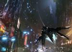 Epic Cyberpunk Flyby