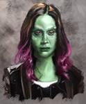 Gamora Speed painting