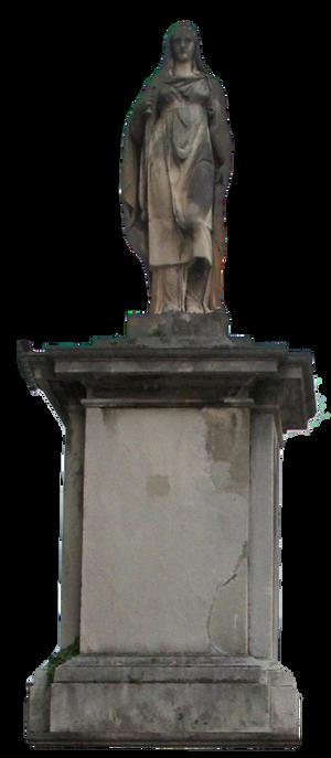 Statue Lake Lugano Switzerland