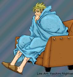 Trigun: Vash blanketed by EdenEvergreen