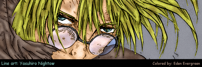 Trigun: Vash, filthy and hurt by EdenEvergreen