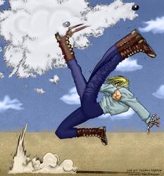 Trigun: Vash Kicking by EdenEvergreen
