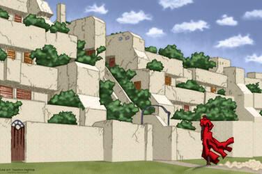 Trigun: Vash's Home Village by EdenEvergreen