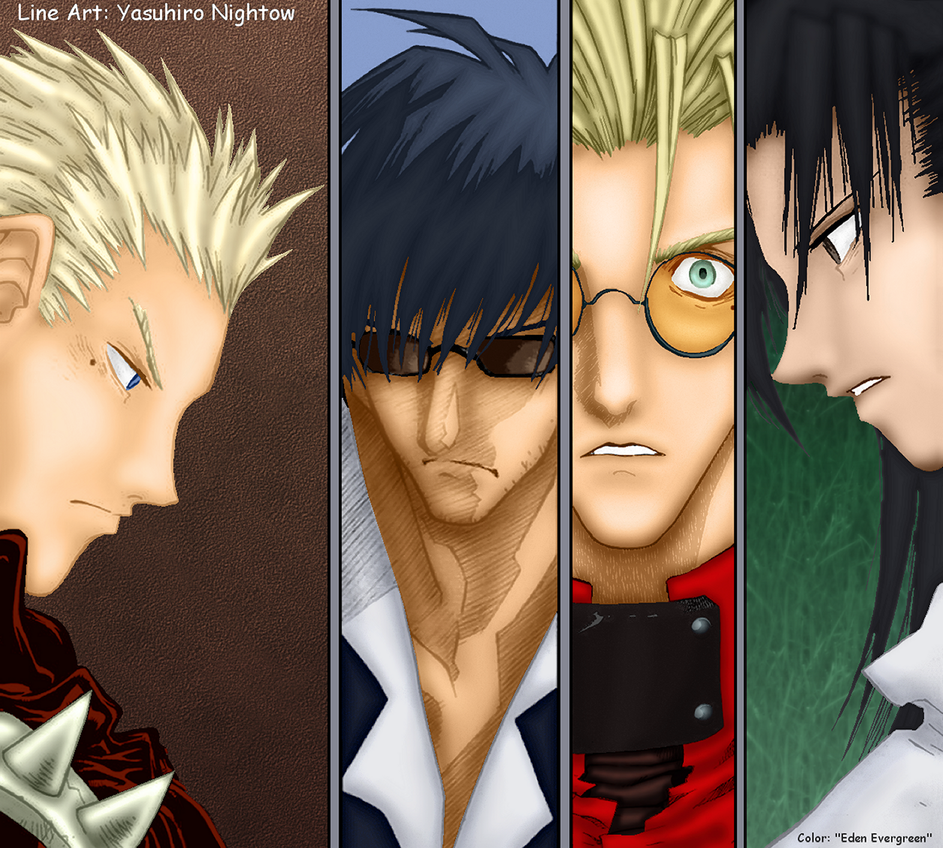 Trigun: Tug-o-War by EdenEvergreen