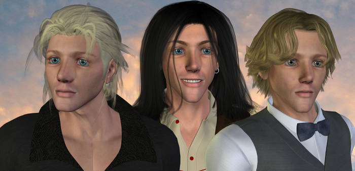from Trigun fanfic: Papa + sons (3D) by EdenEvergreen