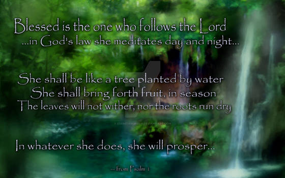 Psalm 1 (for ladies)