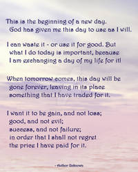 Thoughts on a New Day