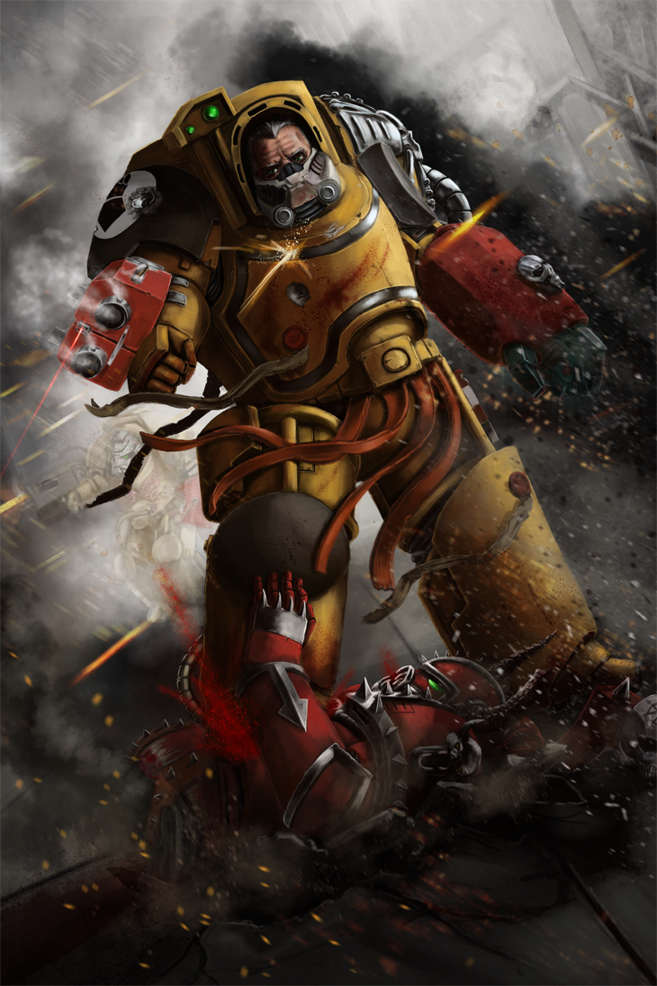 Imperial fists terminator by matthewmcentire on deviantart - Imperial fists 40k ...