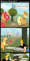 Bravo vs. Ponyville 5 by Angerelic