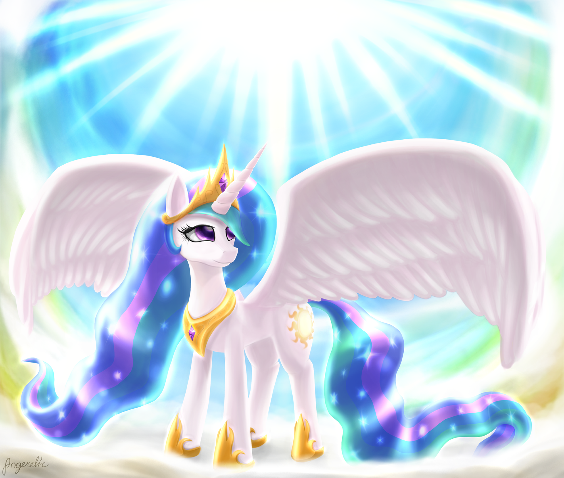 Princess Celestia by Angerelic