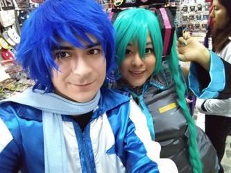 Kaito x Miku cosplay by GaarabathaBL
