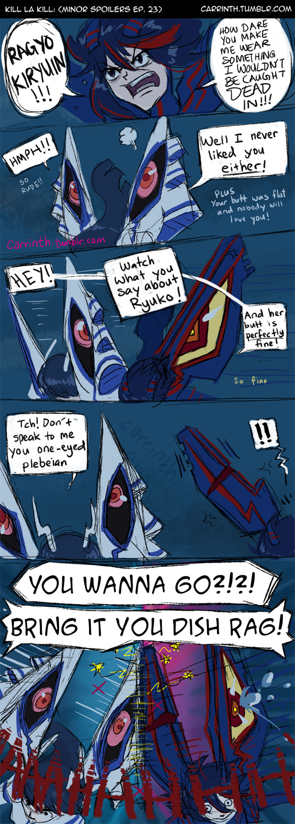 Kill la Kill: Rude Declarations (minor spoilers) by carrinth