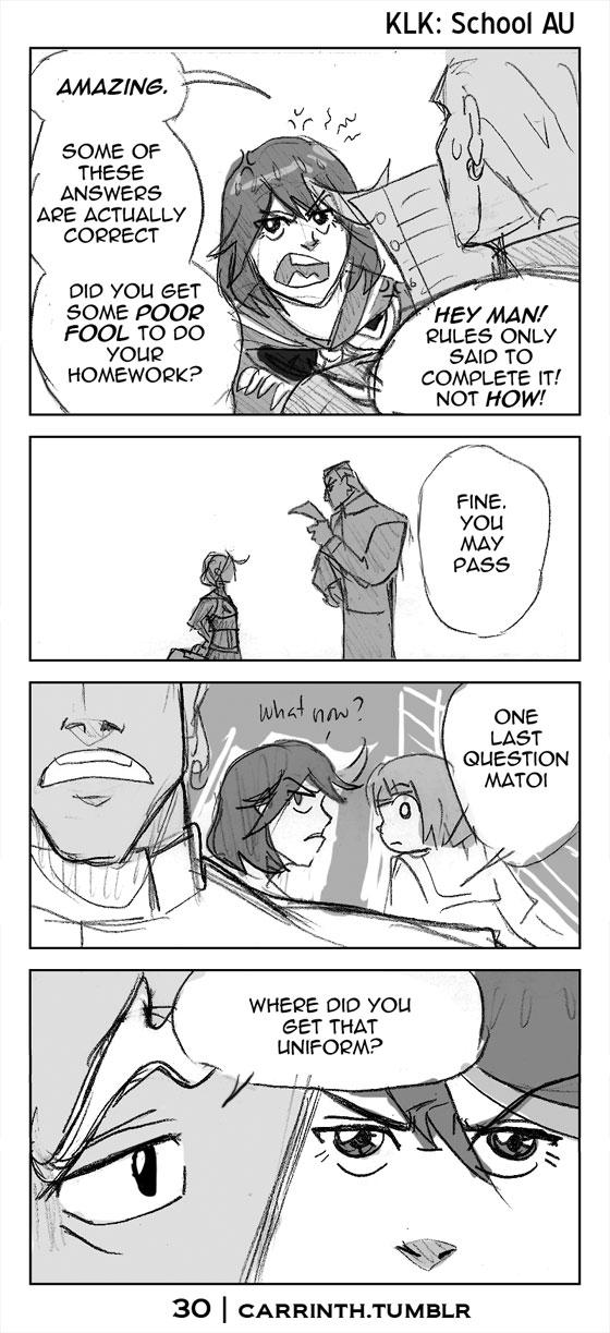 KLK: Senketsu Goes to School 30 by carrinth