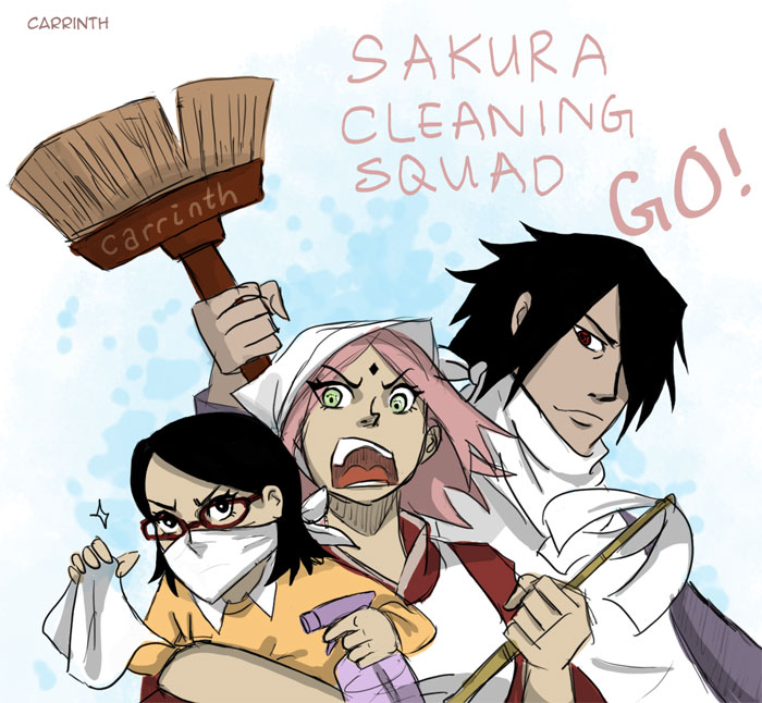 SasuSaku: Cleaners (Post-Naruto 700) by carrinth