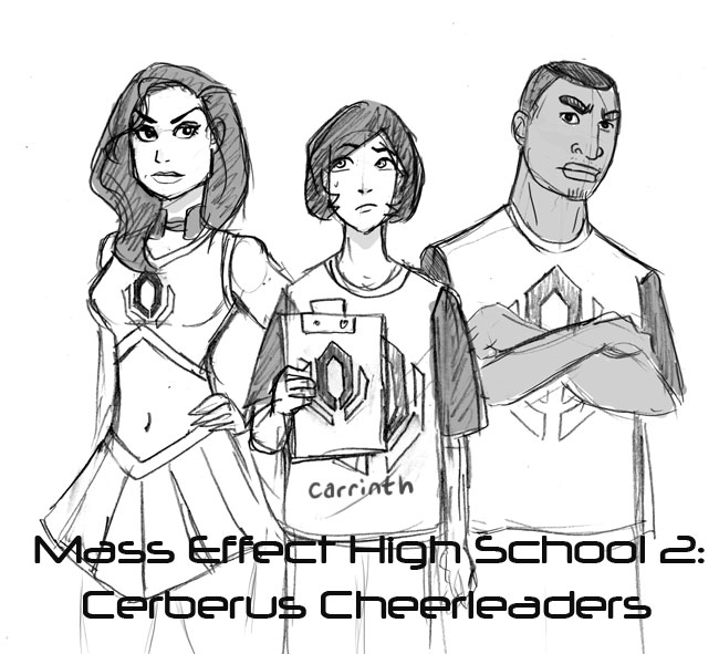 MEHS: Cerberus Cheerleaders by carrinth